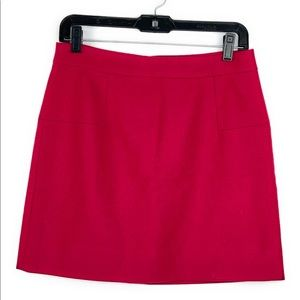 Jcrew Wool Hot Pink Mini Skirt